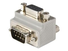 StarTech Right Angle DB9 to DB9 Serial Cable Adapter Type 2 - M/F (GC99MFRA2) - seriell adapter