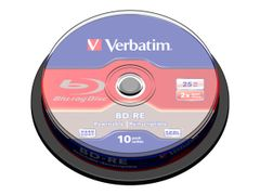 VERBATIM 10 x BD-RE - 25 GB 2x - spindel