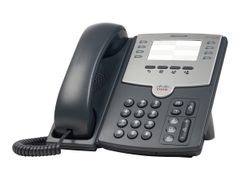 CISCO Small Business SPA 501G - VoIP-telefon - SIP, SIP v2, SPCP - multilinje - sølv, mørk grå - for Small Business Pro Unified Communications 320 with 4 FXO