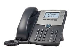 CISCO Small Business SPA 504G - VoIP-telefon - SIP, SIP v2, SPCP - multilinje - sølv, mørk grå - for Small Business Pro Unified Communications 320 with 4 FXO