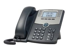 CISCO Small Business SPA 508G - VoIP-telefon - SIP, SIP v2, SPCP - multilinje - sølv, mørk grå - for Small Business Pro Unified Communications 320 with 4 FXO