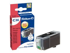 PELIKAN C36 - Svart - blekkpatron (alternativ for: Canon PGI-520BK) - for Canon PIXMA iP4700, MP540, MP550, MP560, MP620, MP630, MP640, MP980, MP990, MX860, MX870