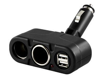 Deltaco Power adapter kit (AC power adapter, car power adapter) - 1 A (PL-A03)