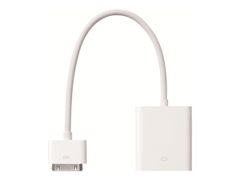 Apple iPad Dock Connector to VGA Adapter - VGA-adapter - Apple Dock (hann) til HD-15 (VGA) (hunn) - 17.78 cm - for iPad (3. generasjon); iPad 1; 2; iPhone 4; iPod touch (4G)