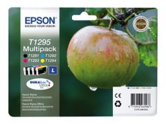Epson T1295 Multipack - 4-pack - svart, gul, cyan, magenta - original - blister - blekkpatron - for Stylus SX230, SX235, SX430, SX438; WorkForce WF-3010, 3520, 3530, 3540, 7015, 7515, 7525