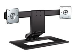 HP Adjustable Dual Display Stand - Stativ (stativfot) for 2 LCD-skjermer - skjermstørrelse: inntil 24