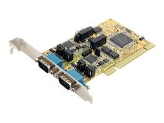 StarTech 2 Port RS232/422/485 PCI Serial Adapter Card w/ ESD - Seriell adapter - PCI - RS-232 x 2 - gul