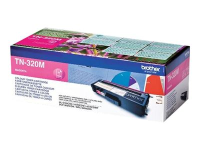 Brother TN-320M - Magenta - original - tonerpatron - for Brother DCP-9055, DCP-9270, HL-4140, HL-4150, HL-4570, MFC-9460, MFC-9465, MFC-9970 (TN320M)