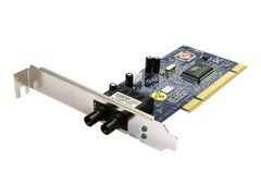 StarTech 100Mbps PCI Multi Mode ST Fiber Ethernet NIC Network Adapter 2km - Nettverksadapter - PCI-X lav profil - 10/100 Ethernet