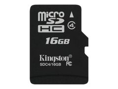 Kingston Flashminnekort - 16 GB - Class 4 - microSDHC