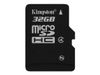 Kingston Flashminnekort - 32 GB - Class 4 - microSDHC (SDC4/32GBSP)