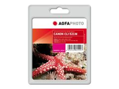 AGFAPHOTO 10.5 ml - magenta - blekkpatron (alternativ for: Canon CLI-521M, Canon 2934B001) - for Canon PIXMA iP4700, MP540, MP550, MP560, MP620, MP630, MP640, MP980, MP990, MX860, MX870