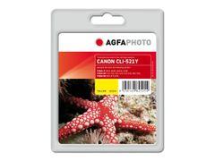 AGFAPHOTO 10.5 ml - gul - blekkpatron (alternativ for: Canon CLI-521Y, Canon 2936B001) - for Canon PIXMA iP4700, MP540, MP550, MP560, MP620, MP630, MP640, MP980, MP990, MX860, MX870