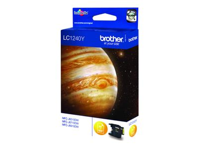 Brother LC1240Y - Gul - original - blekkpatron - for Brother DCP-J525, J725, J925, MFC-J430, J5910, J625, J6510, J6710, J6910, J825 (LC1240Y)