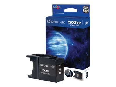 Brother LC-1280XLBK - Svart - original - blekkpatron - for Brother MFC-J5910DW,  MFC-J6510DW,  MFC-J6710DW,  MFC-J6910DW (LC1280XLBK)