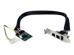 StarTech 3 Port 2b 1a 1394 Mini PCI Express FireWire Card Adapter - FireWire-adapter - PCIe Mini Card - FireWire 800 - 2 porter + 1 x FireWire