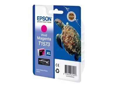 Epson T1573 - 25.9 ml - livlig magenta - original - blister - blekkpatron - for Stylus Photo R3000 (C13T15734010)