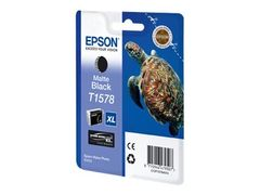 Epson T1578 - 25.9 ml - matt svart - original - blister - blekkpatron - for Stylus Photo R3000