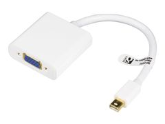 Deltaco DP-VGA4 - DisplayPort-adapter - Mini DisplayPort (hann) til HD-15 (VGA) (hunn) - grå, hvit