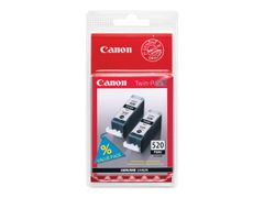 Canon PGI-520BK Twin Pack - 2-pack - 19 ml - svart - original - blekkbeholder - for PIXMA iP3600, iP4700, MP540, MP550, MP560, MP620, MP630, MP640, MP980, MP990, MX860, MX870