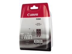 Canon PGI-35 Twin Pack - 2-pack - svart - original - blister - blekkbeholder - for PIXMA iP100, iP100 Bundle, iP100 with battery, iP100wb, iP110