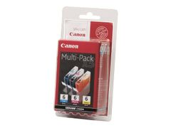 Canon BCI-6 Multipack - 3-pack - gul, cyan, magenta - original - blister - blekkbeholder - for i96X, 990, 99XX; PIXMA IP3000, IP4000, iP5000, iP6000, iP8500, MP750, MP760, MP780; S830
