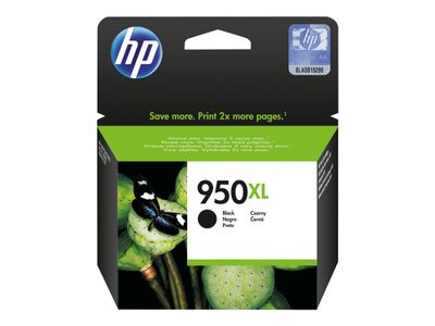 HP 950XL - Høy ytelse - svart - original - Officejet - blekkpatron - for Officejet Pro 251dw, 276dw, 8100, 8600, 8600 N911a, 8610, 8615, 8616, 8620, 8630, 8640 (CN045AE)