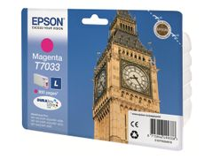 Epson T7033 - L-størrelse - magenta - original - blister - blekkpatron - for WorkForce Pro WP-4015, WP-4025, WP-4095, WP-4515, WP-4525, WP-4535, WP-4545, WP-4595