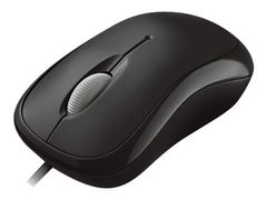 Microsoft Basic Optical Mouse for Business - Mus - høyre- og venstrehåndet - optisk - 3 knapper - kablet - PS/2, USB - svart
