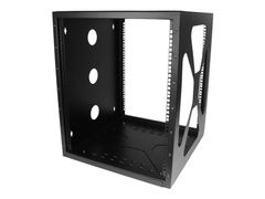 StarTech 12U Wall Mount Rack - Sideways Wall Mount IT Equipment Rack - Open Frame Wall Mount Data Rack (RK1219SIDEM) skap - 12U