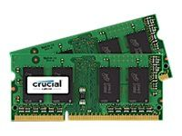 CRUCIAL DDR3L - 4 GB: 2 x 2 GB - SO DIMM 204-pin - 1600 MHz / PC3-12800 - CL11 - 1.35 V - ikke-bufret - ikke-ECC