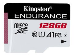 Kingston High Endurance 128GB microSD UHS-I U1 Speed Class 10 A1