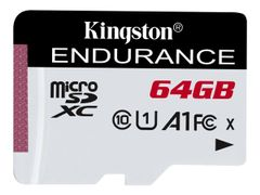 Kingston High Endurance 64GB microSD UHS-I U1 Speed Class 10 A1