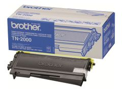 Brother TN-2000 - Svart - original - tonerpatron - for Brother DCP-7010, DCP-7010L, DCP-7025, MFC-7225n, MFC-7420, MFC-7820N; FAX-2820, 2825