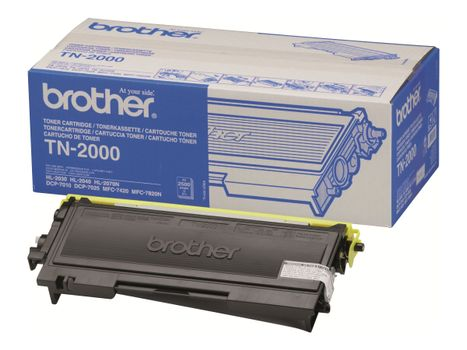 Brother TN2000 - svart - original - tonerpatron (TN2000)