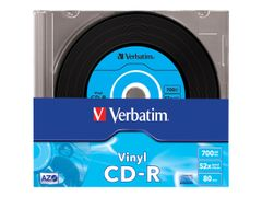 VERBATIM Data Vinyl - 10 x CD-R - 700 MB 52x - smalt cover