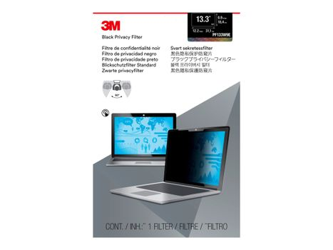 """3M personvernfilter for 13.3"""" Laptops 16:9 with COMPLY - notebookpersonvernsfilter (PF133W9E)"""