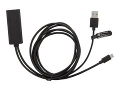 Deltaco CAST-ETHERNET - Nettverksadapter - USB - 10/100 Ethernet x 1 - svart - for Google Chromecast