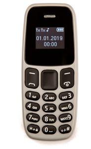 Tinstar BM10 minitelefon,  grå, Dual-SIM (105-GRAY-)