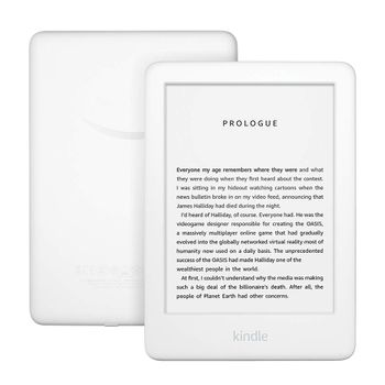 Amazon All-new Kindle 2019, hvit Innebygd lys, Audible, 4GB, Wi-Fi, Bluetooth