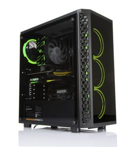 Multicom FactPro i617CR Gaming PC Intel Core i5-9400F, 16GB, 1TB PCIe SSD, GeForce RTX 2060 6GB, 450W, Uten operativsystem (MULTICOM-i617C-CFLRFB)
