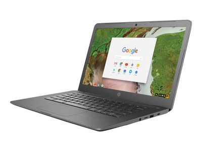 "HP Chromebook 14 G5 - Celeron N3350 / 1.1 GHz - Google Chrome OS 64 - 4 GB RAM - 32 GB eMMC - 14"" IPS berøringsskjerm 1920 x 1080 (Full HD), demobrukt (3GJ76EA#UUW-Demo)"