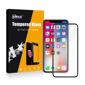 VMAX pansret glass iPhone X/XS Svart, herdet glass (VX-IPX/XS-3D-SV)