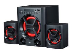 LG XBOOM LK72B - Lydsystem - 40 watt (Total) - sort / rød