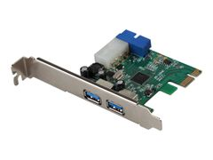 "I-TEC PCIe Card 4x USB 3.0 adapter - 4 porter 2 x external USB 3.0 type A, 2 x internal USB 3.0 via 1 x 19pin ""header male"" connector"