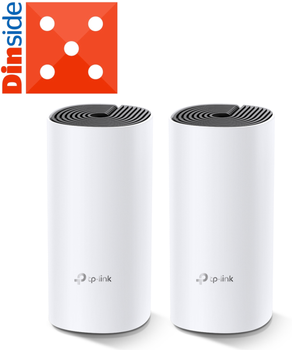 TP-Link DECO M4 AC1200 mesh-system 2 rutere, opptil 370 m2, 802.11ac Dual-band