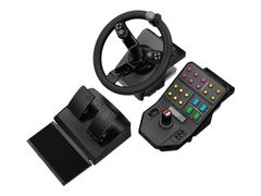 Logitech Heavy Equipment - G-Series - Bundle - hjul- og pedalsett - kablet - for PC