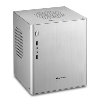 Sharkoon CA-I SILVER MINI-ITX - PC CASE 2XUSB2.0/ 2XUSB3.0 213X225X259MM (4044951016143)