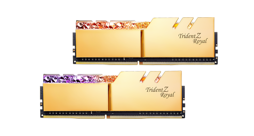 G.SKILL Trident Z Royal 16GB 2x8GB DDR4, 4600MHz, CL18-22-22-42 (F4-4600C18D-16GTRG)