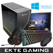 Multicom Flow i511C Gaming-PC-pakke med skjerm, tastatur, headset, mus, musematte og Windows 10 Home